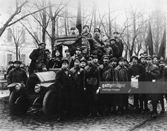 A Group of Red Army Men. Petrograd, 1917.
