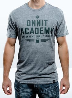 Men's Onnit Academy Tri-<br />Blend Shirt Gray/Gray