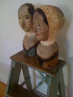 19th century milliner's heads