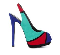 Colour block shoe