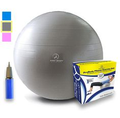 Exercise Ball - Professional Grade Anti-Burst Yoga Ball, Balance Ball for Pilates, Yoga, Stability Training and Physical Therapy >>> Don't get left behind, see this great  product : Weight loss Accessories