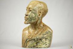 Butter Jade Bust Sculpture - TM Gidi (Zimbabwe) Elephant Sculpture, Lion Sculpture, Stone Lion, African Masks, Jade Stone, Zimbabwe, Butter, Statue, Ebay