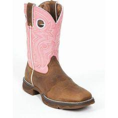 """Lady Rebel by Durango Women's 10"""" Square Toe Saddle Pink Boot - Style #RD3474 - Durango Boot Company"""