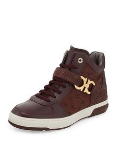 Salvatore Ferragamo	 Nayon Men's Exotic High-Top Sneaker  $1,950.00