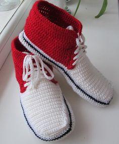 crocheted slippers sneakers