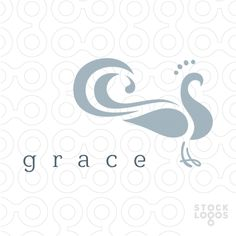 #logo Grace peacock bird - More #logos in:www.stocklogos.com/user/rossini