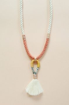 Gamma Folk | No. 7 Necklace #accessories #necklace #woven