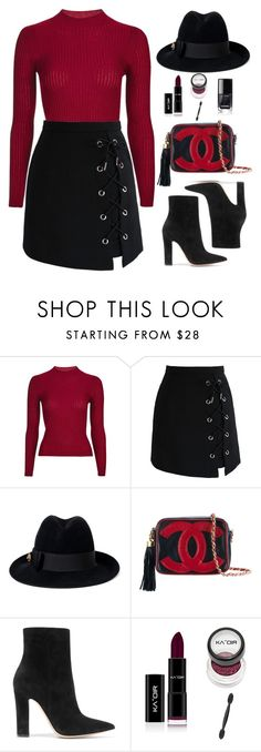 """""""Untitled #584"""" by jovana-p-com ❤ liked on Polyvore featuring Topshop, Chicwish, Gucci, Chanel and Gianvito Rossi"""