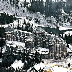 The Fairmont Banff Springs, Banff, Alberta — by Cindy Baker. Canada's fairy tale castle in the Rockies--the Fairmont Banff Springs Hotel. #architecture