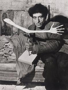 Alberto Giacometti photographed by Brassaï