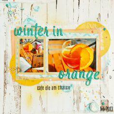 *Imagicallery*: {Scrapbooking} Winter in Orange