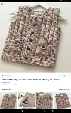 Knitting For Kids, Baby Knitting, Crochet Baby, Free Crochet, Baby Patterns, Crochet Patterns, Little Anthony, Baby Vest, Sewing Stitches