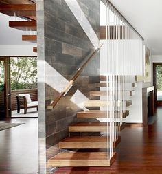 delicately hanging stair treads