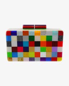 Urania Gazelli Pixel #1 Plexiglass Clutch