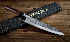 """The beautiful Shizuku Gyuto 9.5"""" knife. #japanese #knife #cooking"""