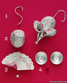 cute mouse ornament from tin foil