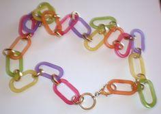 Vintage 1960's MOD  Fashion Plastic Chain Belt by TheFadingPast, $11.00