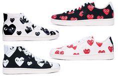 Les Converse Pro Leather par Comme des Garçons  #fashion #trend #love #converse #commedesgarcons