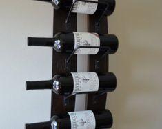 Wine rack - 5 bottle Rustic Wine Rack with Steel banding made from reclaimed wooden barrels - Samira Unique Wine Racks, Rustic Wine Racks, Wine Rack Uses, Ohio, Wine Rack Wall, Bottle Rack, Bourbon Barrel, Reclaimed Barn Wood, En Stock