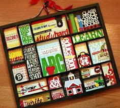 Love this possibly for the outside of my door or by my bookshelf!