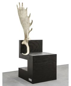 Stag Chair (natural), 2007 Rick Owens, American Plywood and Moose Antler Although Owens is primarily known as a clothing designer, he has created some fabulous pieces of furniture as well.