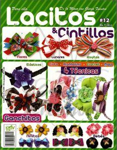 Revista Lacitos y Cintillos gratis Magazine and online Bows Headbands