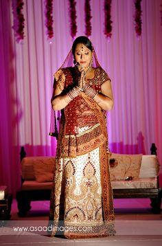 beautiful panetar sari with intricate detailing   courtesy Asaad Images   www.shaadibelles.com