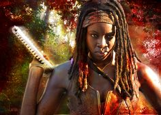 Michonne Pic#191 Chopping at dark Places
