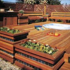 Above Ground Pool Deck.Build A Deck. Above Ground Pool Landscaping, Above Ground Pool Decks, In Ground Pools, Wood Deck Designs, Pergola Designs, Wood Decks, Pool Designs, Pool Landscape Design, Terrace Design