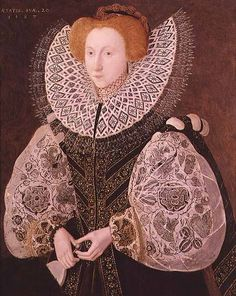 Unknown Girl by John Bettes the Younger Oil on panel 37 x 30 inches. I have a very old book it states that this painting belonged to St. Blackwork Patterns, Blackwork Embroidery, Embroidery Dress, Lady Jane Grey, Jane Gray, The Royal School, Cut Work, Modern Artists, Tudor
