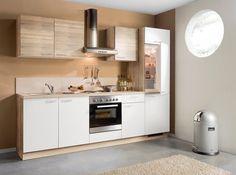 Küchenblock WIN - Bergeiche-weiß - rechts - 270 cm