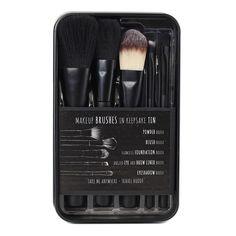 BYS Take Me Anywhere Travel Buddy Brush Set - Set includes:  Powder Brush, Blush Brush, Flawless Foundation Brush, Angled Eye & Brow Liner Brush, Eyeshadow Brush.