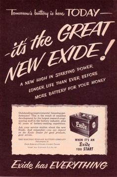 1950-EXIDE-CAR-BATTERIES-Original-Vintage-Print-Ad-OLD-CAR-BATTERY-ADS