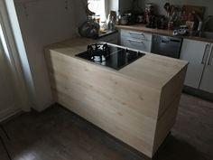 Kitchen island, made of birch