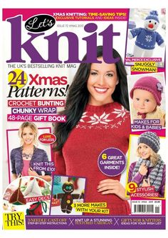 Lets knit 72 2013 xmas by Tanaba - issuu Knitting Books, Loom Knitting, Knitting Patterns Free, Knit Patterns, Free Knitting, Baby Knitting, Knitting Ideas, Simply Knitting, How To Start Knitting