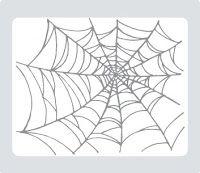 Halloween spookey spiderweb template.