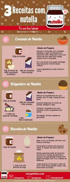 3 receitas com Nutella - receitas fáceis brigadeiro de nutella crocante de nutella biscoito de nutella receita doce