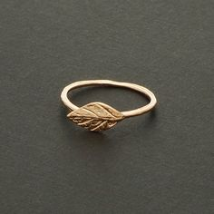Delicate Leaf Ring in Rose Gold / R048RG by silverholic on Etsy, $13.00