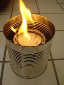 Stove In A Can...affordable, easy to make and a great addition to your emergency prepardness #surivalkit #emergencyprepardness #buddyburner