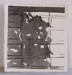 Original Ink Drawing  City Garage Door with Shadow by annagguiles, $12.00