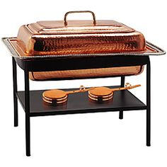 @Overstock - Rectangular chafing dish is perfect for parties and buffets Restaurant-quality warming tray holds 8 quarts Buffet tray includes a stainless steel food linerhttp://www.overstock.com/Home-Garden/Old-Dutch-Copper-8-quart-Chafing-Dish/3864822/product.html?CID=214117 $347.76