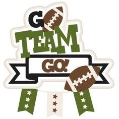 Go Team Go Football SVG scrapbook title football svg cut file cute cut files for cricut cute svg cuts free svgs