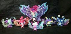 Littlest Pet Shop Moonlite Fairies TWINKLING FRIENDS Fairy Blythe Glow/Dark LPS #Hasbro