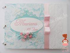 Fazendo Meu Casamento: Livro de assinaturas 15 anos Tiffany e rosa