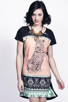 Liquorish tiger mirror day dress  RRP £60.00  http://www.liquorishonline.com/product/liquorish-tiger-mirror-dress