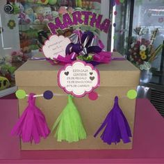 Diy And Crafts, Crafts For Kids, Paper Crafts, Birthday Box, Birthday Gifts, Gift Wrapping Bows, Ramadan Gifts, Bff Gifts, Types Of Craft