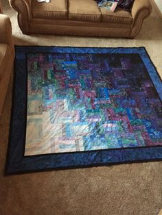 Jelly roll quilt. Two jelly rolls make a queen-sized quilt.