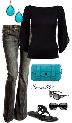 """Black and blue"" by irene541 ❤ liked on Polyvore"
