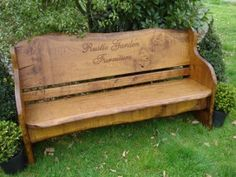 No Two Memorial Benches Are The Same, They Each Have Their Own Distinctive  Personality. Rustic Garden Furniture Specifically Select The Timber To Suit  The ...