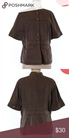 "🆕 J.Jill Brown Bombed Jacket NWT Sz Medium ☀️ Brand new with tags! Thank you for looking! 30"" chest 25"" length 100% tencel J. Jill Jackets & Coats Utility Jackets"